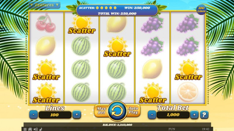 100 Juicy Fruits :: Scatter Win