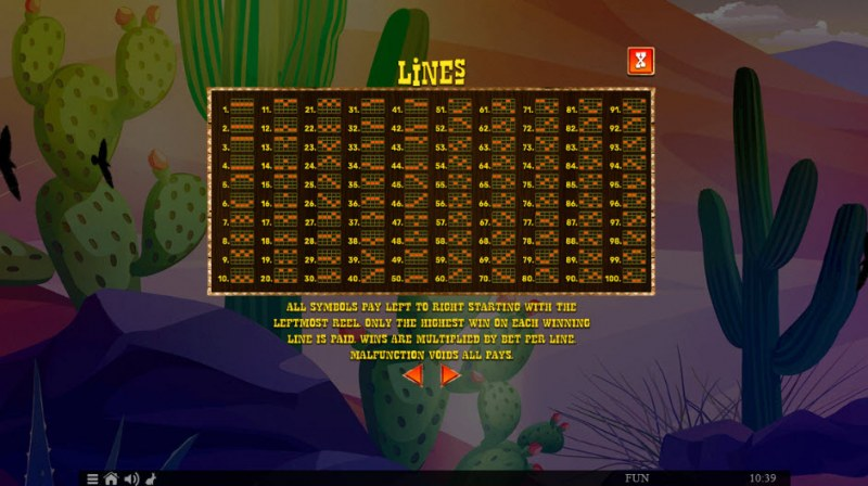 100 Lucky Chillies :: Paylines 1-100