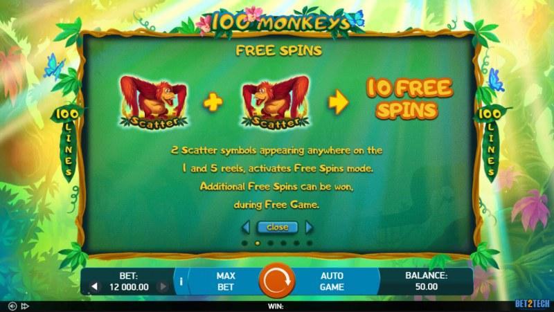 100 Monkeys :: Scatter Symbol Rules