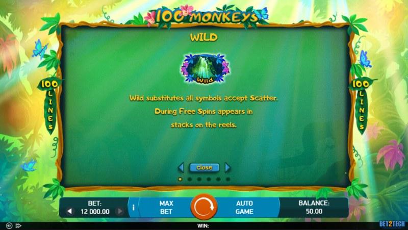 100 Monkeys :: Wild Symbol Rules