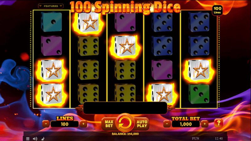 100 Spinning Dice :: Scatter Win