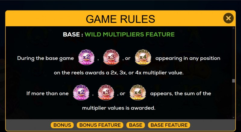 1000 Pearls :: Wild Multiplier Feature