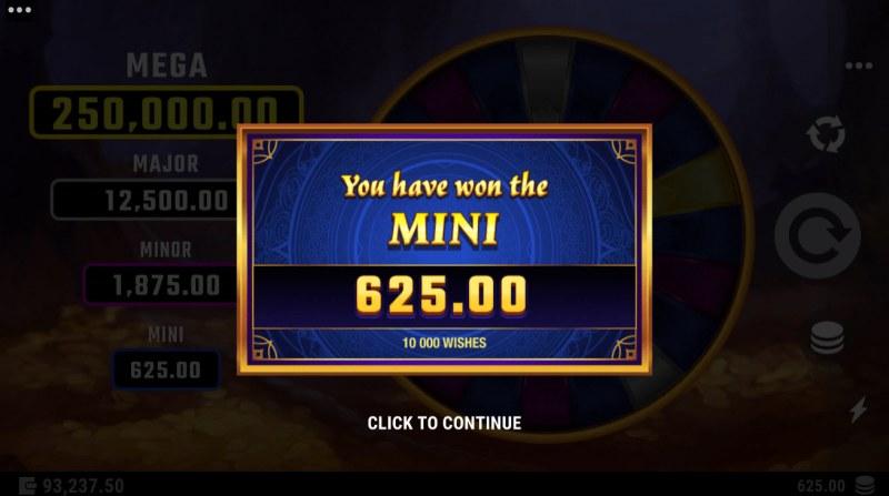 10000 Wishes :: Mini Jackpot Awarded