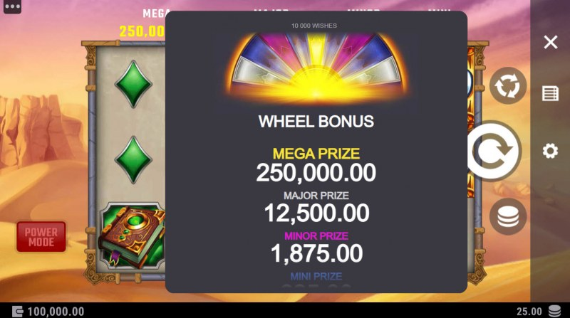 10000 Wishes :: Wheel Bonus