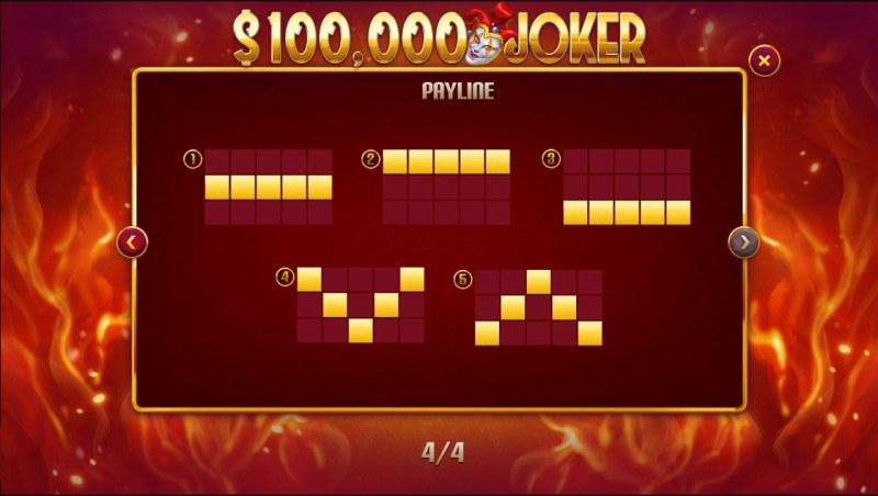 $100,000 Joker :: Paylines 1-5