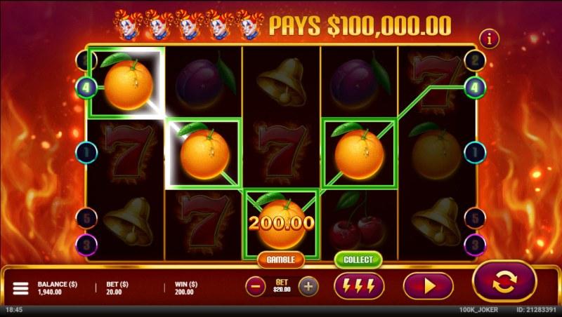 $100,000 Joker :: A four of a kind win