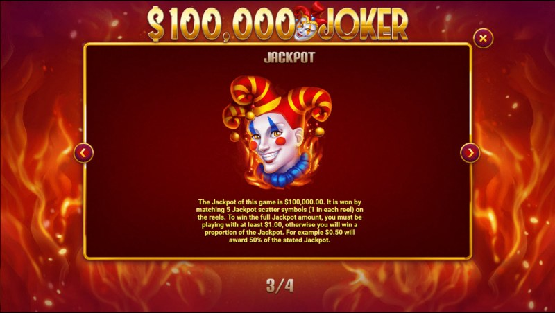 $100,000 Joker :: Jackpot Rules
