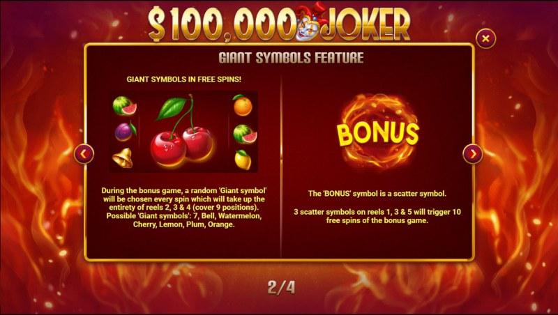 $100,000 Joker :: Scatter Symbol Rules