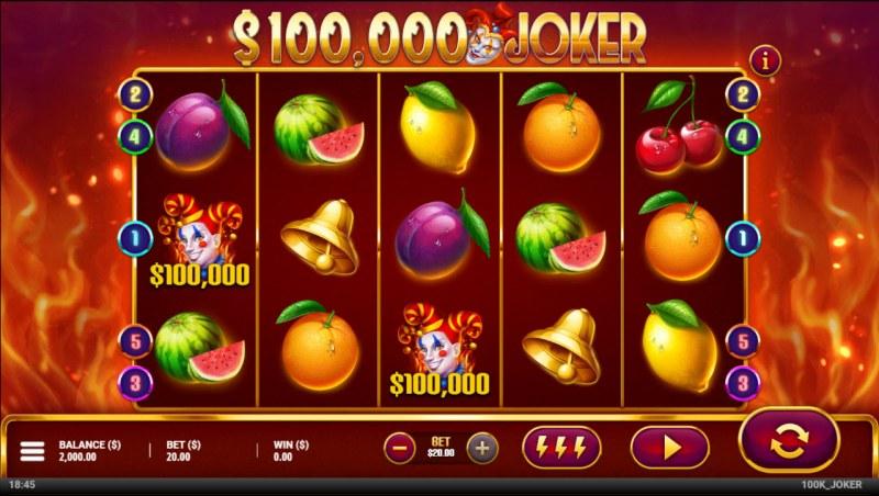 $100,000 Joker :: Main Game Board