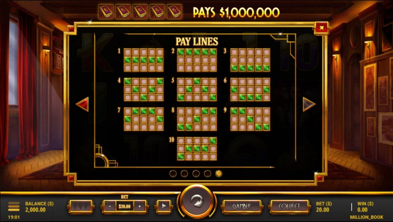 $1,000,000 Book :: Paylines 1-10