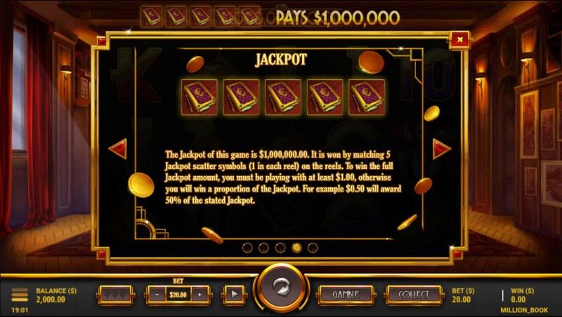$1,000,000 Book :: Jackpot Rules