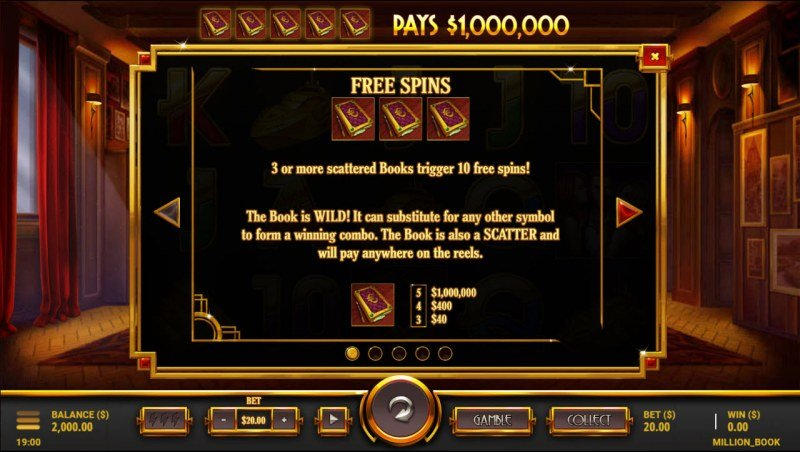 $1,000,000 Book :: Free Spin Feature Rules