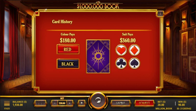 $1,000,000 Book :: Gamble feature
