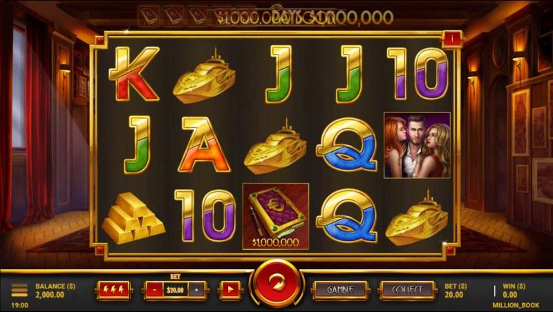 $1,000,000 Book :: Main Game Board
