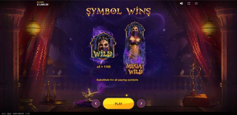10,001 Nights :: Wild Symbol Rules