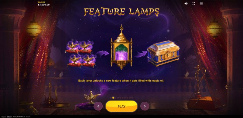 10,001 Nights :: Feature Lamps