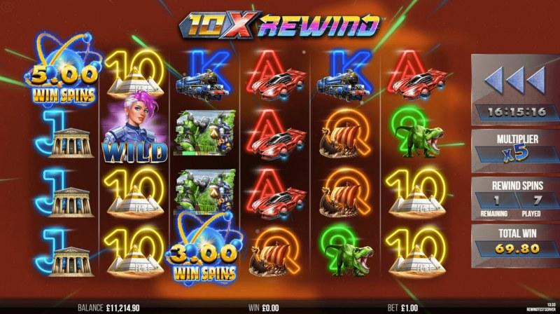 10X Rewind :: Free Spins Game Board