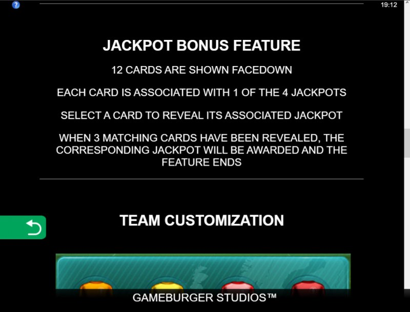 11 Champions :: Jackpot Rules