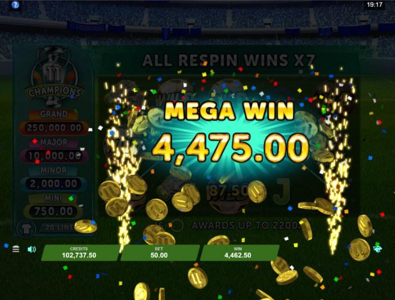 11 Champions :: Mega Win