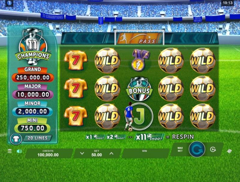 11 Champions :: Main Game Board