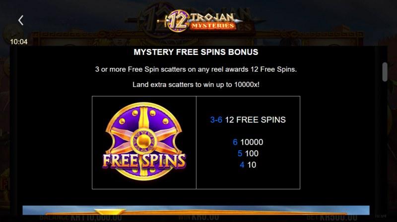 12 Trojan Mysteries :: Mystery Free Spins Bonus