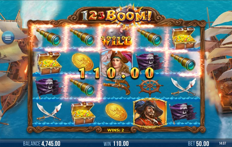 123 Boom! :: A five of a kind win