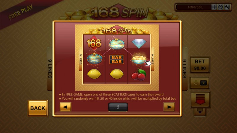 168 Spin :: Free Spins Rules