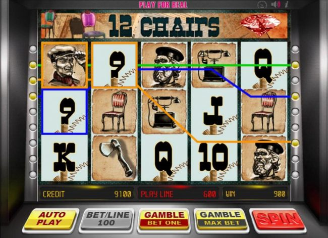 Campeon featuring the Video Slots 12 Chairs with a maximum payout of $81,000