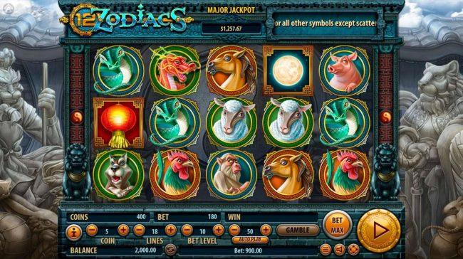 12 Zodiacs :: Main Game Board