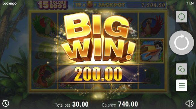 15 Golden Eggs :: A 200 coin big win