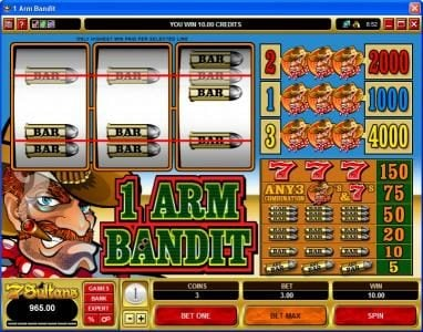 1 Arm Bandit :: 1 Arm Bandit Slot Game 2 Pay Line Win