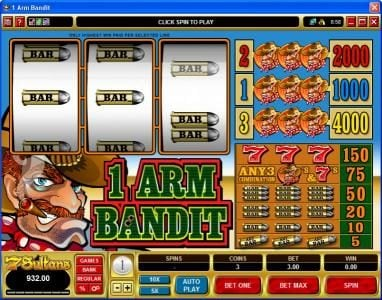 1 Arm Bandit :: 1Arm Bandit Slot Game in Expert mode
