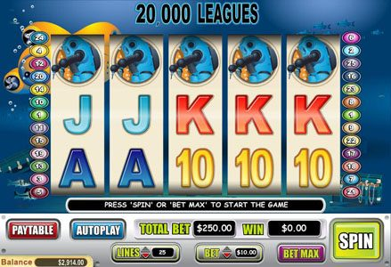 Intertops Classic featuring the Video Slots 20,000 Leagues with a maximum payout of $50,000