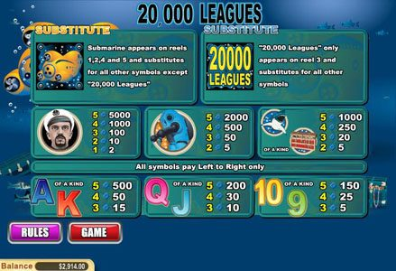 Red Stag featuring the Video Slots 20,000 Leagues with a maximum payout of $50,000