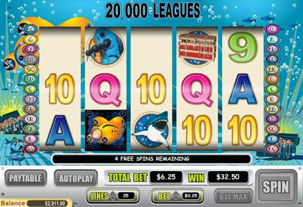 Lincoln featuring the Video Slots 20,000 Leagues with a maximum payout of $50,000