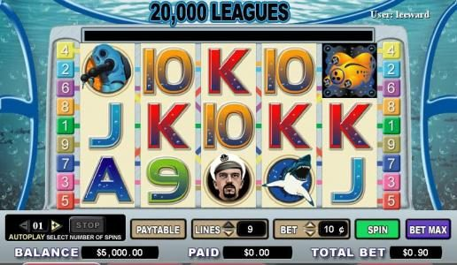 Fruity Vegas featuring the video-Slots 20,000 Leagues with a maximum payout of 5,000x