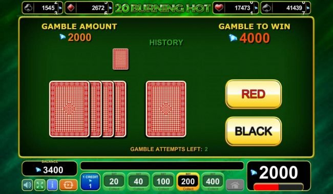 Buran featuring the Video Slots 20 Burning Hot with a maximum payout of $150,000
