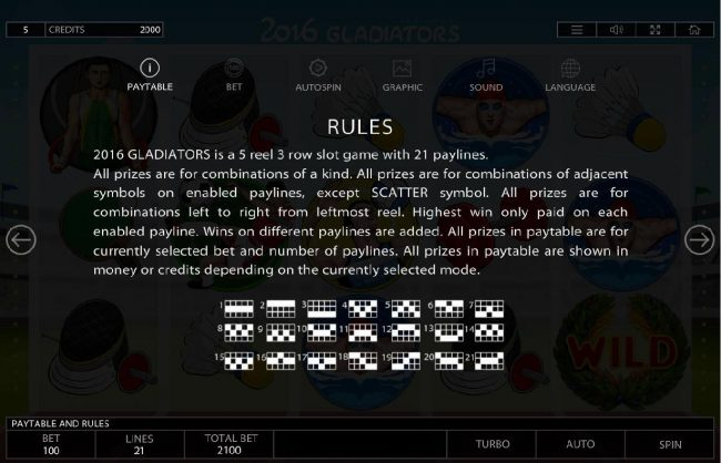 Crypto Wild featuring the Video Slots 2016 Gladiators with a maximum payout of $150,000
