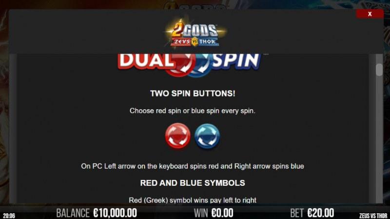 2 Gods Zeus vs Thor :: Dual Spin Feature