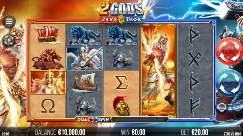 2 Gods Zeus vs Thor :: Main Game Board