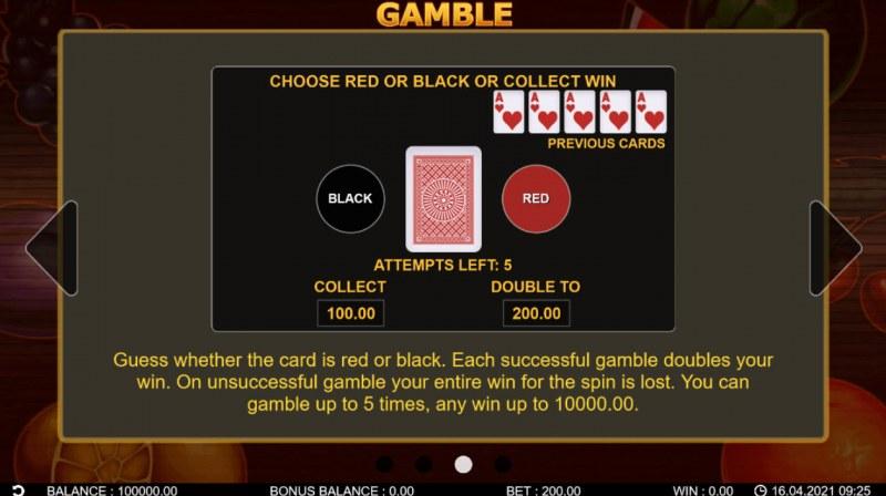 20 Hot Twist :: Gamble feature