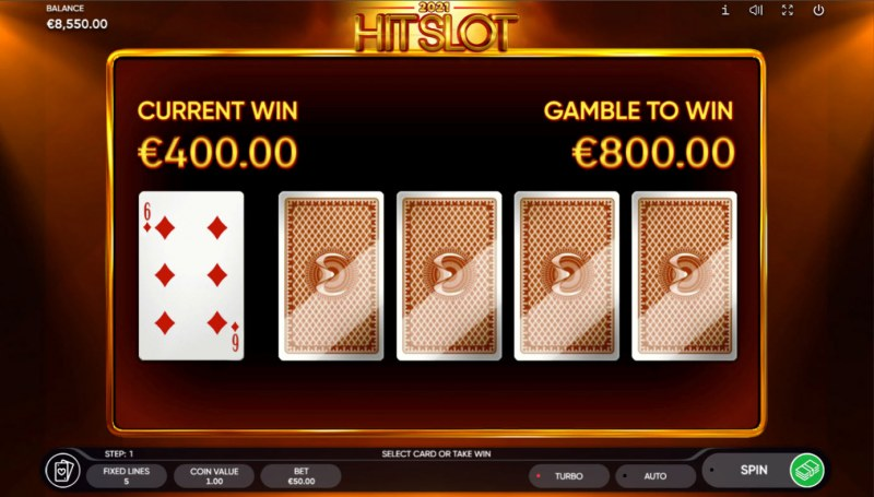 2021 Hit Slot :: Red or Black Gamble Feature