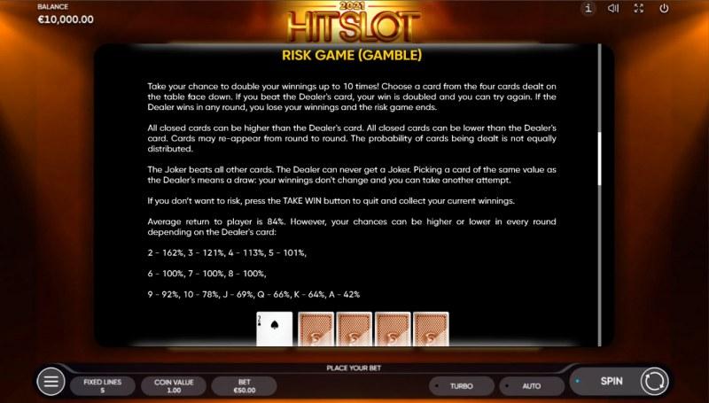 2021 Hit Slot :: Gamble feature
