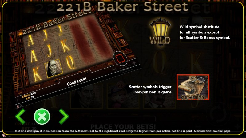221B Baker Street :: Wild and Scatter Rules
