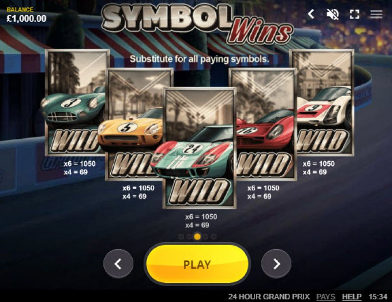 24 Hour Grand Prix :: Wild Symbols Rules