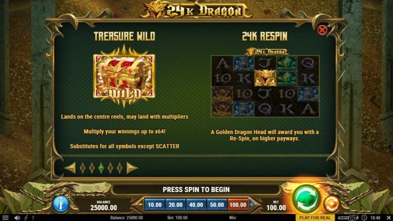 24K Dragon :: Wild Symbol Rules
