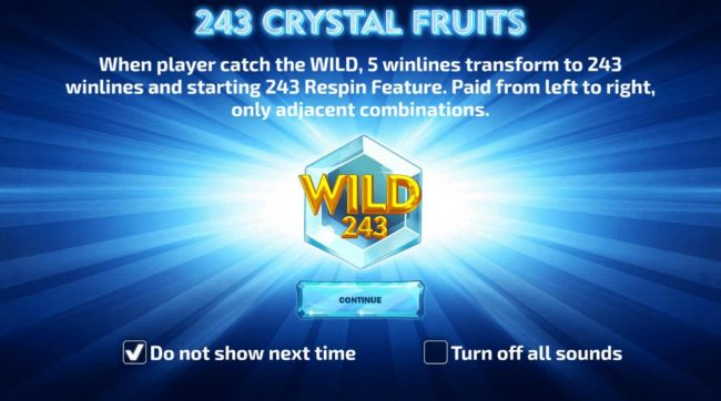 Play slots at Viggoslots: Viggoslots featuring the Video Slots 243 Crystal Fruits with a maximum payout of $120