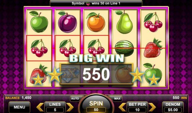 25 Diamonds :: 550 coin big win
