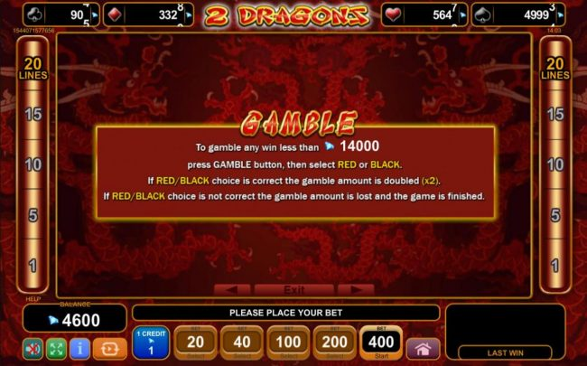 Gamble Feature Rules
