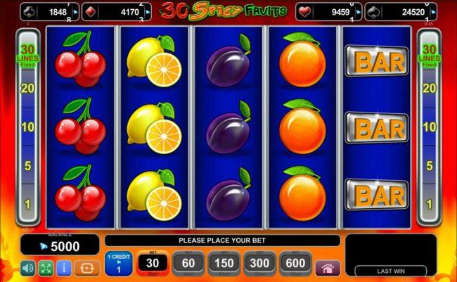 Spiele 30 Spciy Fruits - Video Slots Online
